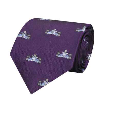 Hickey Freeman Race Car Tie - Silk (For Boys) in Purple - Closeouts