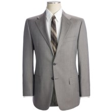Hickey Freeman Rope Stripe Suit - Wool (For Men) in Taupe - Closeouts