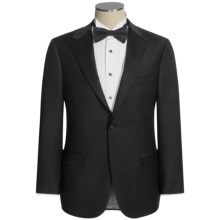 Hickey Freeman Satin Finish Tuxedo - Worsted Wool (For Men) in Black - Closeouts