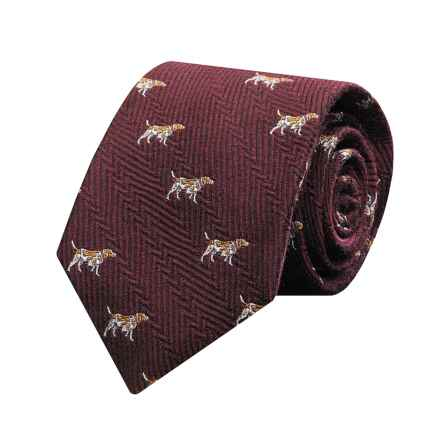 Hickey Freeman Silk Dog Tie (For Boy) in Burgundy - Closeouts