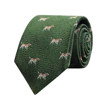 Hickey Freeman Silk Dog Tie (For Boy) in Green - Closeouts