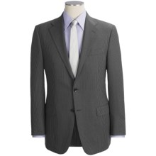 Hickey Freeman Slim Jim Beaded Stripe Suit - Worsted Wool (For Men) in Charcoal - Closeouts