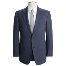 Hickey Freeman Slim Jim Beaded Stripe Suit - Worsted Wool (For Men) in Navy - Closeouts
