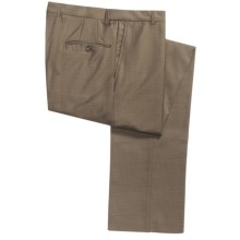 Hickey Freeman Small Check Pants - Wool-Cashmere (For Men) in Tan - Closeouts