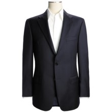 Hickey Freeman Solid Blazer - Worsted Wool (For Men) in Deep Navy - Closeouts