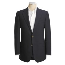 Hickey Freeman Solid Blazer - Worsted Wool (For Men) in Navy - Closeouts