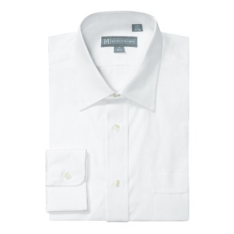Hickey Freeman Solid Broadcloth Dress Shirt - Long Sleeve (For Men) in White