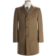 Hickey Freeman Solid Cashmere Top Coat (For Men) in Light Brown - Closeouts