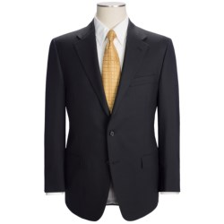 Hickey Freeman Solid Flat Weave Suit - Worsted Wool (For Men) in Med Grey