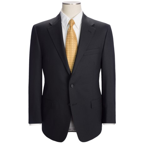 Hickey Freeman Solid Flat Weave Suit - Worsted Wool (For Men) in Black