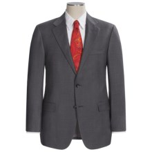Hickey Freeman Solid Flat Weave Suit - Worsted Wool (For Men) in Med Grey - Closeouts