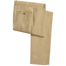 Hickey Freeman Solid Linen Pants (For Men) in Carmel - Closeouts