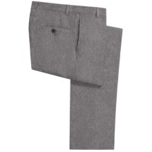 Hickey Freeman Solid Linen Pants (For Men) in Grey - Closeouts