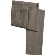 Hickey Freeman Solid Linen Pants (For Men) in Olive - Closeouts