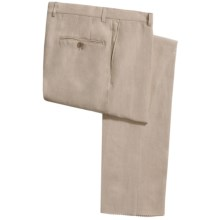 Hickey Freeman Solid Linen Pants (For Men) in Sand - Closeouts