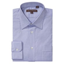 Hickey Freeman Solid Oxford Dress Shirt - Long Sleeve (For Men) in Blue - Closeouts