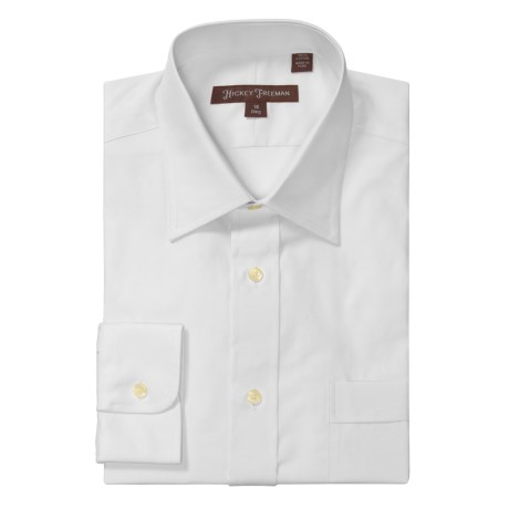 Hickey Freeman Solid Oxford Dress Shirt - Long Sleeve (For Men) in White