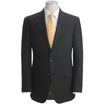 Hickey Freeman Solid Suit - Worsted Wool (For Men) in Black