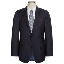 Hickey Freeman Solid Worsted Wool Suit (For Men) in Dark Navy - Closeouts