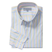 Hickey Freeman Spring Stripe Sport Shirt - Cotton, Long Sleeve (For Men) in Cobalt - Closeouts