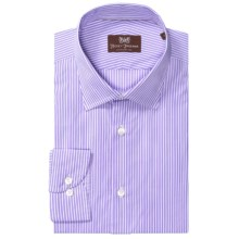 Hickey Freeman Stripe Dress Shirt - Cotton, Long Sleeve (For Men) in Purple Heart - Closeouts