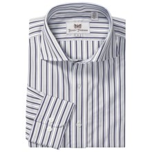 Hickey Freeman Stripe Sport Shirt - Long Sleeve (For Men) in Navy - Closeouts