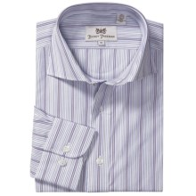 Hickey Freeman Stripe Sport Shirt - Long Sleeve (For Men) in Purple - Closeouts