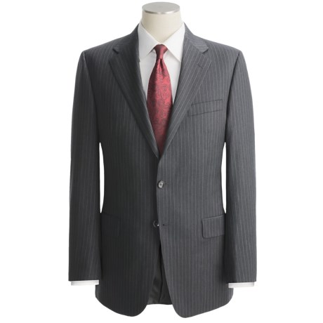 Hickey Freeman Stripe Suit - Lindsey Model, Wool (For Men ) in Charcoal