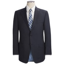 Hickey Freeman Stripe Suit - Lindsey Model, Wool (For Men ) in Navy - Closeouts