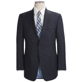 Hickey Freeman Stripe Suit - Lindsey Model, Wool (For Men ) in Navy