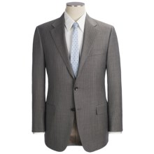 Hickey Freeman Stripe Suit - Worsted Wool (For Men) in Dark Taupe - Closeouts