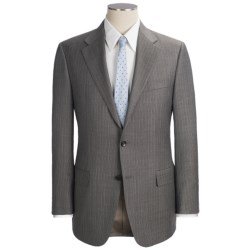 Hickey Freeman Stripe Suit - Worsted Wool (For Men) in Dark Taupe