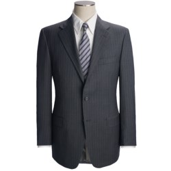 Hickey Freeman Stripe Suit - Worsted Wool (For Men) in Med Grey