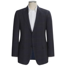 Hickey Freeman Stripe Windowpane Overlay Sport Coat - Worsted Wool (For Men) in Navy - Closeouts