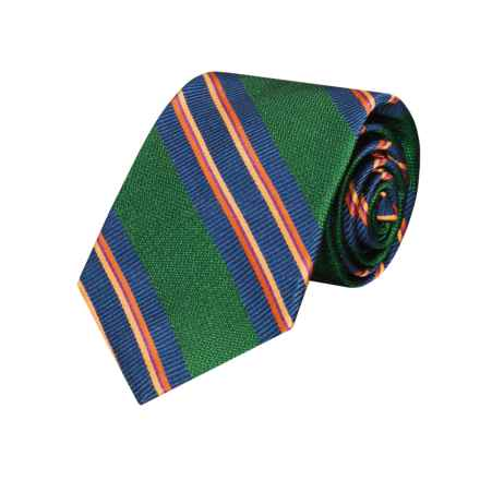 Hickey Freeman Striped Tie - Silk (For Boys) in Green - Closeouts