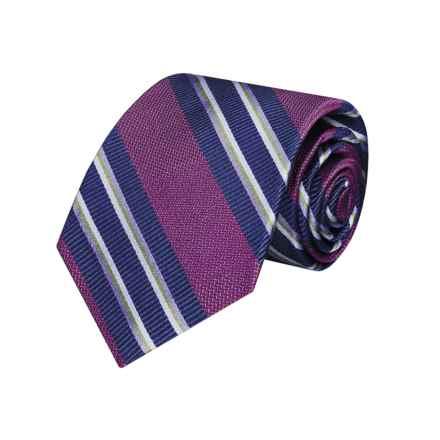 Hickey Freeman Striped Tie - Silk (For Boys) in Purple - Closeouts