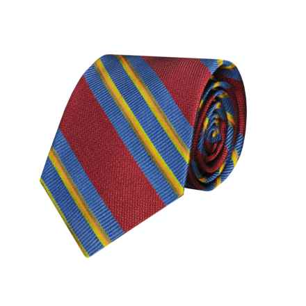 Hickey Freeman Striped Tie - Silk (For Boys) in Red - Closeouts