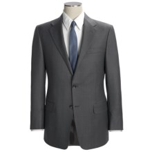 Hickey Freeman Subtle Beaded Stripe Suit - Worsted Wool (For Men) in Med Grey/Light Blue - Closeouts