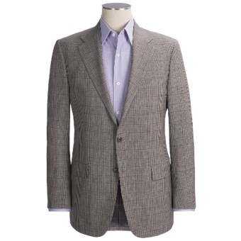 Hickey Freeman Subtle Plaid Sport Coat - Worsted Wool (For Men) in Taupe