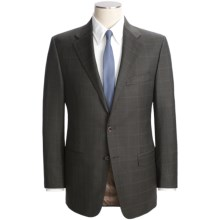 Hickey Freeman Subtle Windowpane Overlay Suit - Worsted Wool (For Men) in Breen/Blue - Closeouts