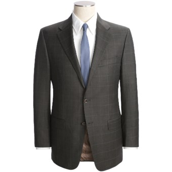 Hickey Freeman Subtle Windowpane Overlay Suit - Worsted Wool (For Men) in Breen/Blue