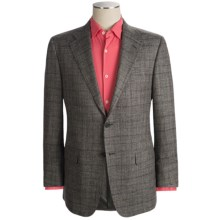 Hickey Freeman Subtle Windowpane Sport Coat - Silk-Linen-Wool (For Men) in Grey - Closeouts