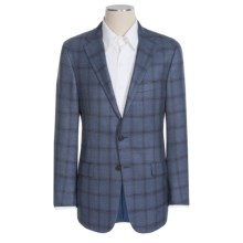 Hickey Freeman Subtle Windowpane Sport Coat with Plaid Overlay - Wool (For Men) in Blue - Closeouts