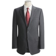Hickey Freeman Suit - Lindsey Model, Worsted Wool (For Men) in Charcoal - Closeouts
