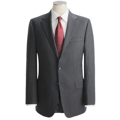 Hickey Freeman Suit - Lindsey Model, Worsted Wool (For Men) in Charcoal