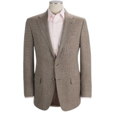 Hickey Freeman Tic Weave Sport Coat - Wool-Linen-Silk (For Men) in Med Brown - Closeouts