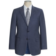 Hickey Freeman Track Stripe Suit - Worsted Wool (For Men) in Navy/Lavender - Closeouts