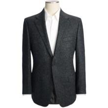 Hickey Freeman Tweed Sport Coat - Wool-Silk (For Men) in Black Marl - Closeouts