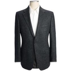 Hickey Freeman Tweed Sport Coat - Wool-Silk (For Men) in Black Marl