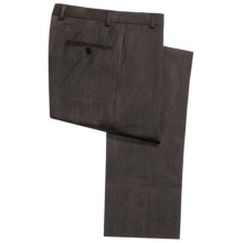 Hickey Freeman Twill Dress Pants - Worsted Wool, Flat Front (For Men) in Dark Olive - Closeouts